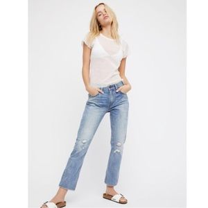 Levi's 517 Cropped Bootcut Distressed Jeans NWT